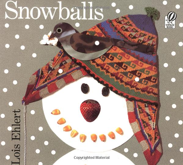 Directions for snowy birds artwork by Grade 1 students. Snowballs book review and follow-up activities. #snowballs #bookreview #kidsbooks #snowartforkids