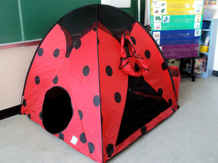 Ladybug tent that we use as our classroom reading tent