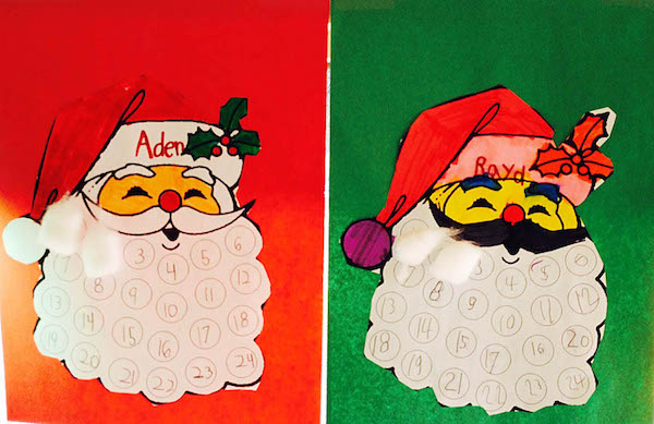 Christmas Countdown Calendar and Santa Letter. You can grab both of these printables for free! I use them every year with my first graders.