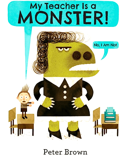 Children\'s Book Review, My Teacher is a Monster. #myteacherisamonster #kidsbooks #booksforkids #gradeonederful