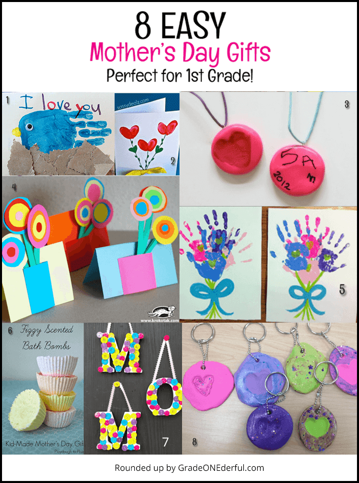 Mother's Day: 8 easy gifts and cards for first grade!