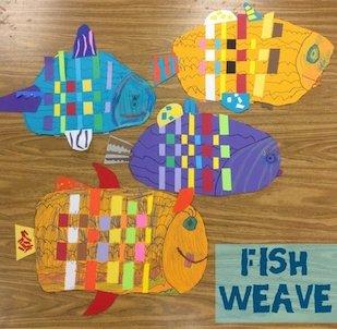 Fish Weave: Art lesson for Grade 1
