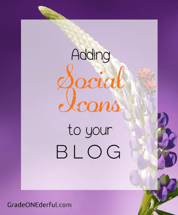 Blogger Tutorial: How to add social media icons to your blog. It\'s pretty easy to do. GradeONEderfulDesigns.com