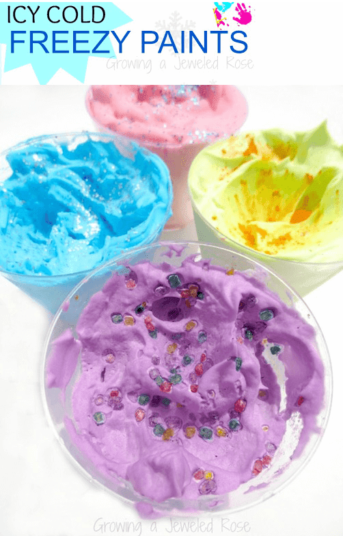 ice cold freezie paint recipe from pinterest originally from Growing a Jeweled Rose
