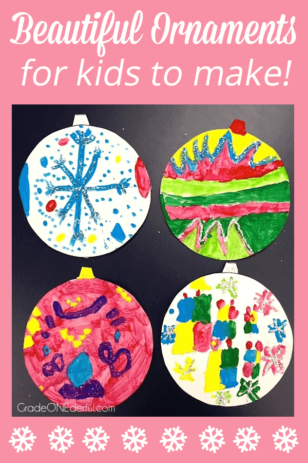 Easy Christmas Art Activity with a Free Template
