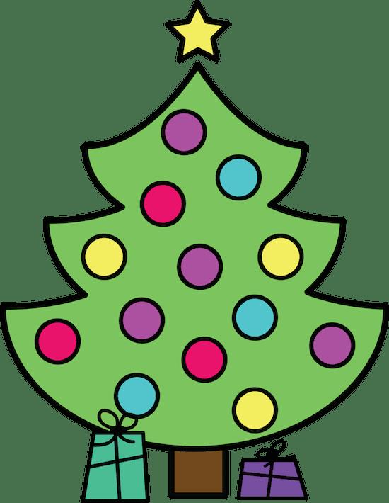 Christmas tree clipart FREEBIE by GradeONEderful.com