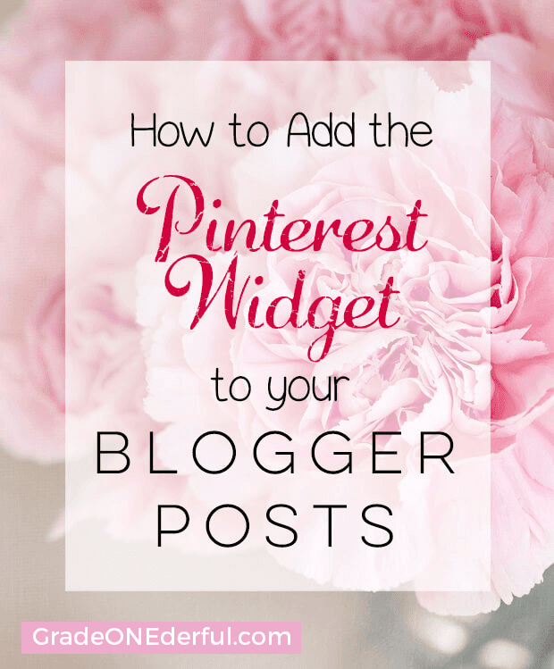 Pinterest Widget Blogger Tutorial: In this tutorial you\'ll find out how to add the pinterest widget to your posts and sidebar. This is a great way to increase your pinterest followers!