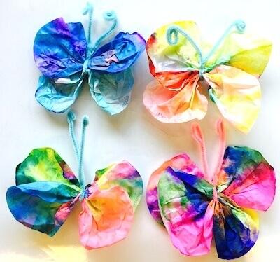 Butterflies in First Grade: Tie Dyed Coffee Filter Butterflies.  GradeONEderful.com
