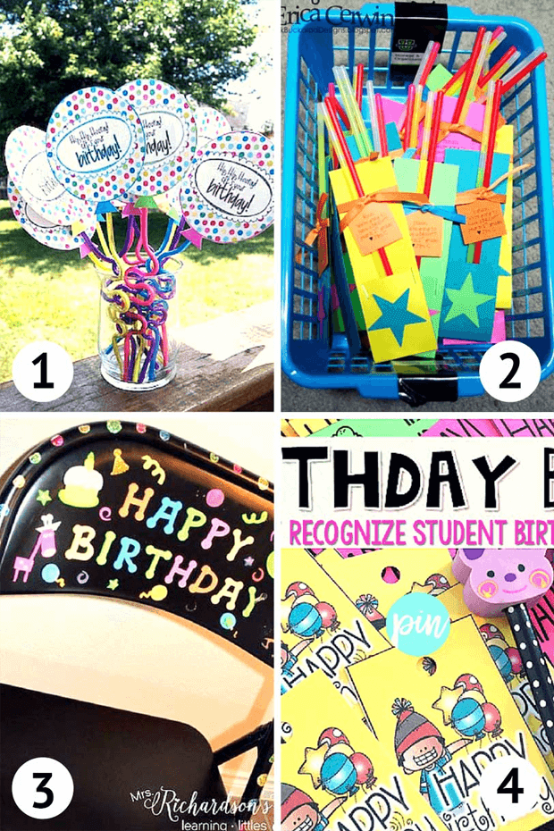 Lots of Birthday ideas for your primary classroom AND free cupcake clipart. GradeONEderful.com