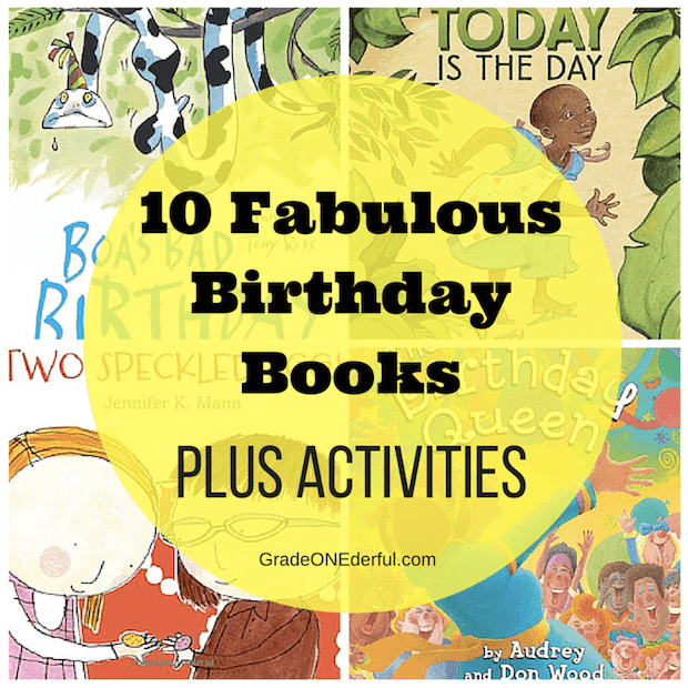 A collection of fabulous birthday books and activities for your first grade classroom.