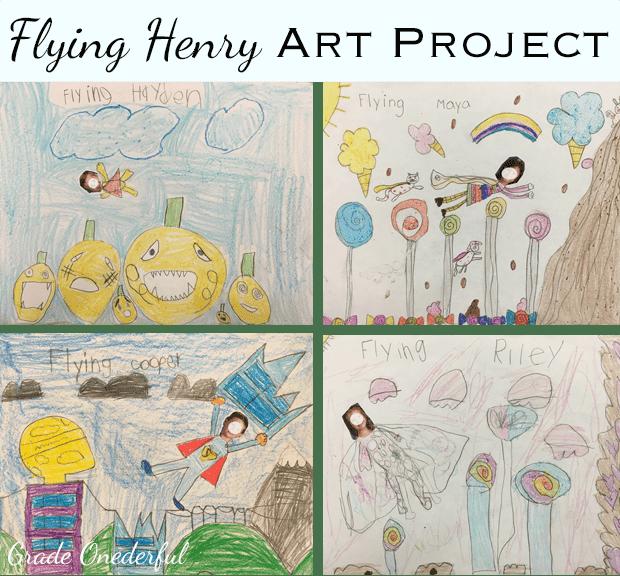 Flying Henry Art Project in Grade 1
