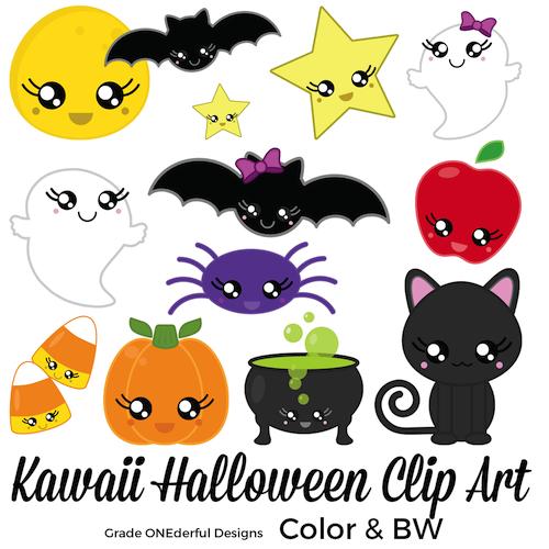 Kawaii Halloween clip art