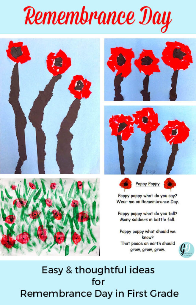 Easy Ideas for Remembrance Day in First Grade