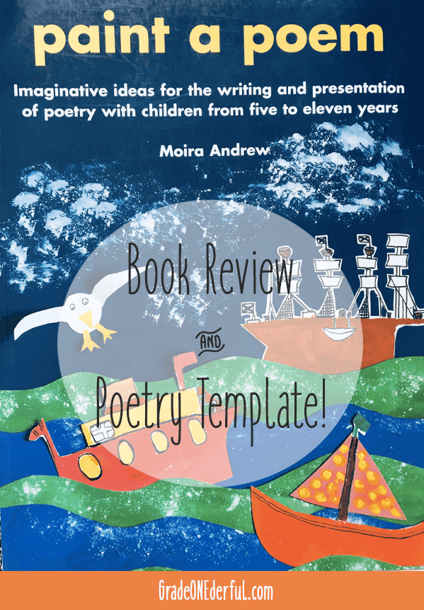 Paint a Poem book review. Author: Moira Andrew. Review includes a free poetry template.