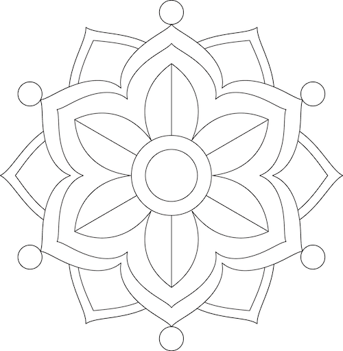 Painting mandalas. Free template. GradeONEderful.com
