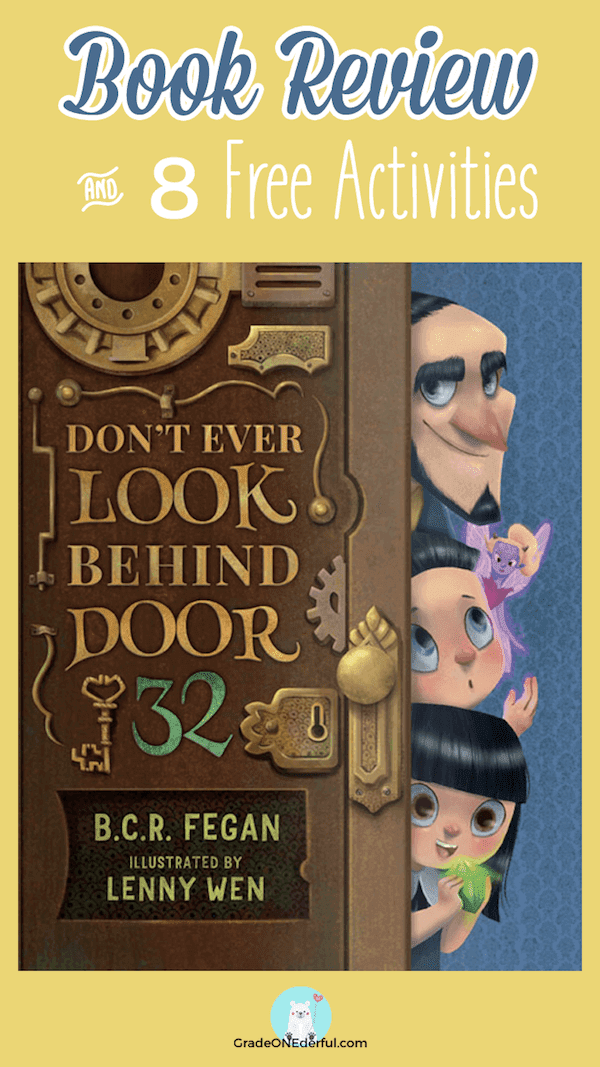Book Review and Free Activities: Don\'t Ever Look Behind Door 32. You don\'t want to miss this book. Get a set of matching number cards, too!