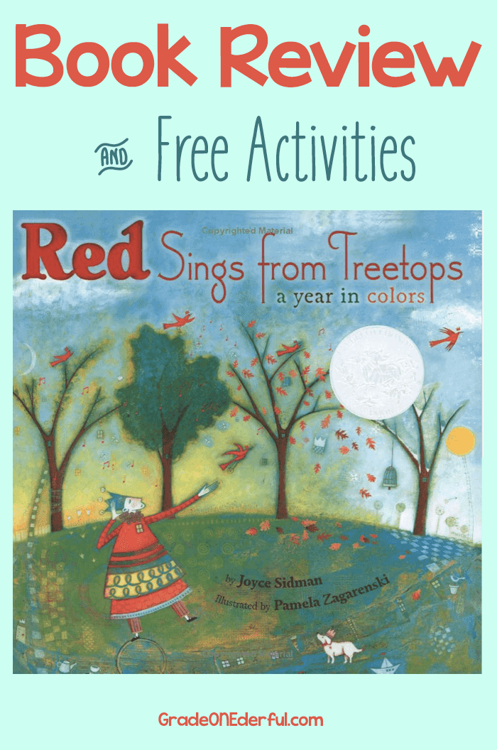 Red Sings from Treetops: A review and book activities!