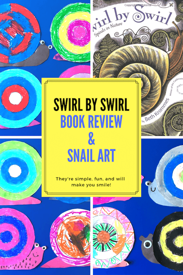 Swirl by Swirl: Spirals in Nature book review with follow up art activity. Grade ONEderful