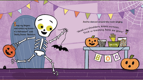 Skelly\'s Halloween book review with 5 fabulous and free skeleton printables. These Halloween freebies are perfect for kids 4 to 8. #gradeonederful #halloween #skellyshalloween #skeleton #halloweenfreebies
