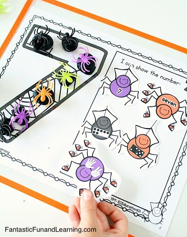 https://www.fantasticfunandlearning.com/spider-counting-numbers-printable-mats.html