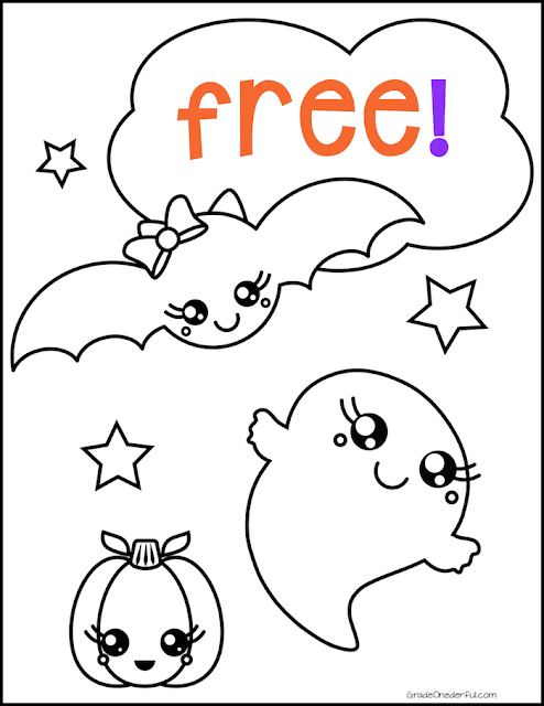 Free Halloween coloring page for 4--8 year olds. This Halloween printable is super cute. #gradeonederful #halloween #halloweencrafts #halloweencraftsforkids