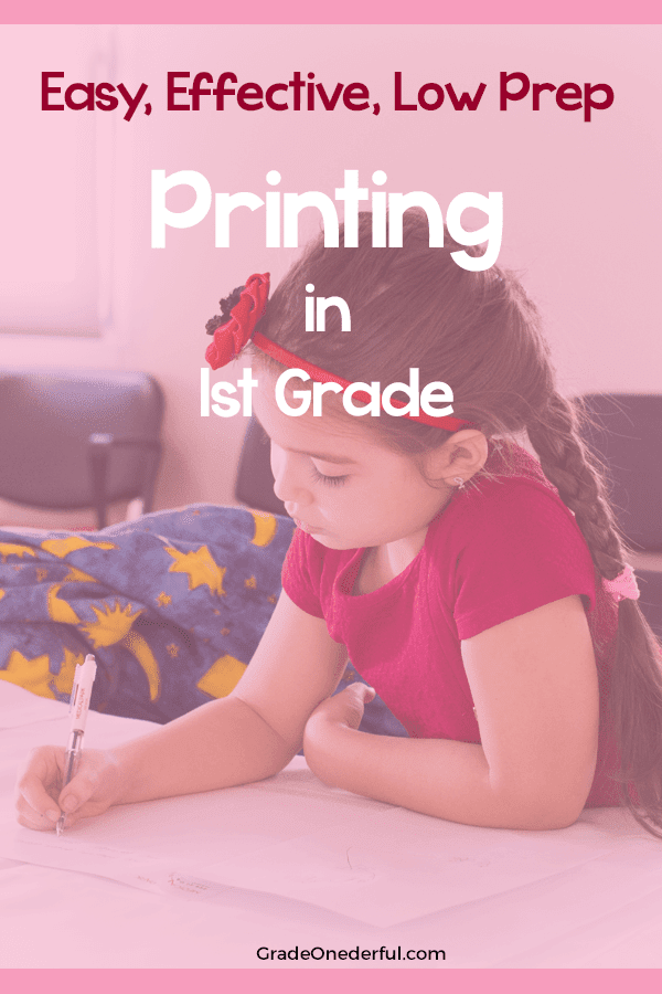 Read about my printing practice in my Grade 1 class and grab your own printing template. I love the way we do this because it\'s closely tied in to The McCrackens Spelling Through Phonics program. #gradeonederful #printing #firstgradeprinting #printinginfirstgrade