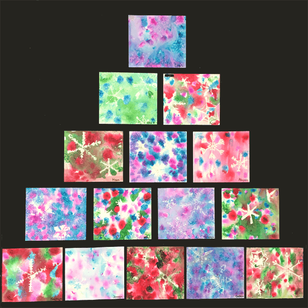 Christmas Art for Kids. Need some inspiration? I have lots of beautiful art ideas for kids, including the sweetest Christmas card. #gradeonederful #watercolorart #christmas #christmasart #christmasartforkids