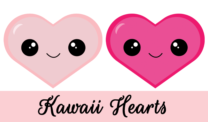 Free Kawaii Hearts Clipart by Grade Onederful @ GradeONEderful.com