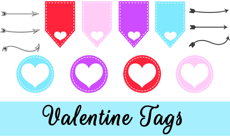 Valentine tags and arrows: Free