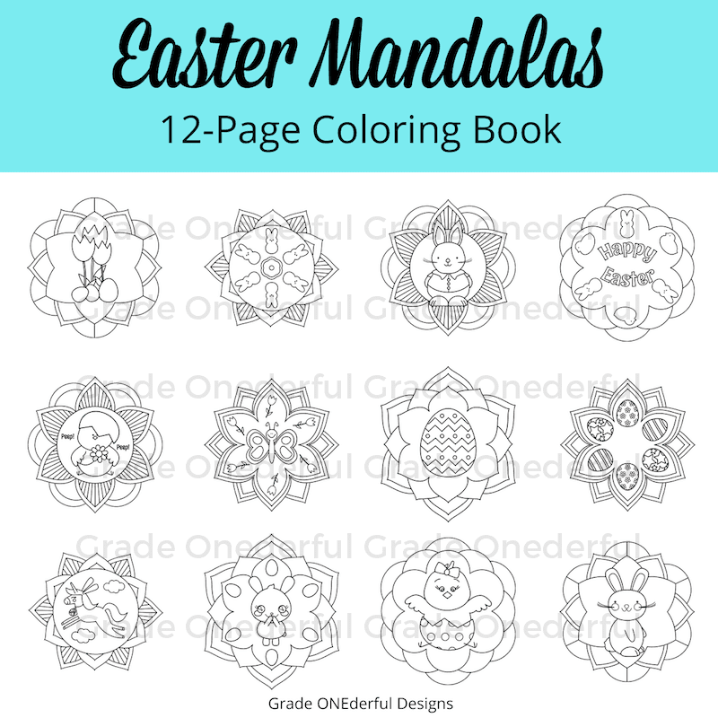 A round-up of Easter goodies and a peek at my new Easter clipart (some cute and colorful peeps plus an Easter mandala coloring book).