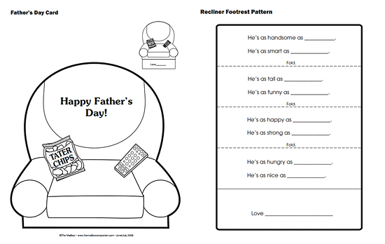 Father\'s Day card template from The Mailbox