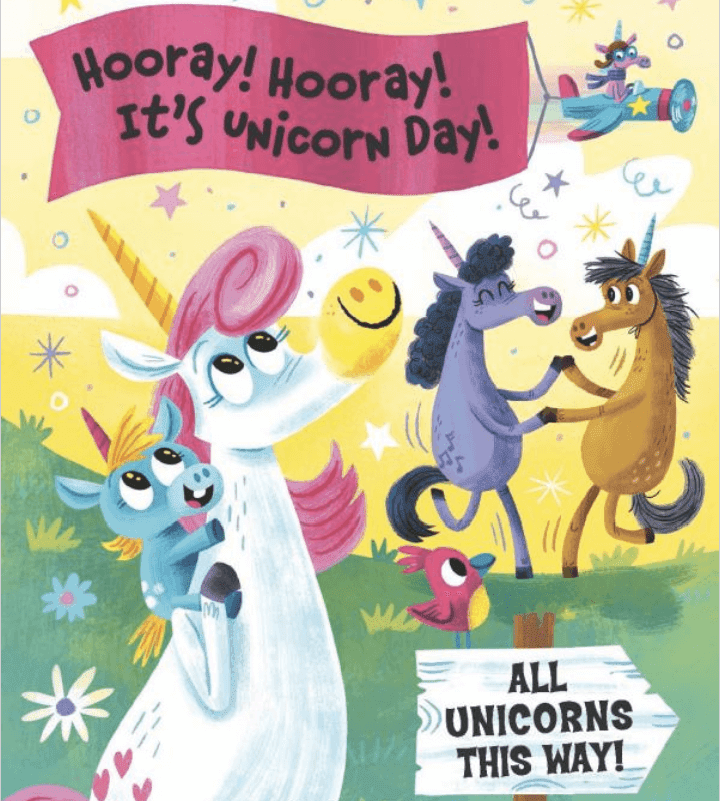 Unicorn Day: A book review. You\'ll love this completely adorable book about a unicorn celebration. It\'s all about friendship, acceptance and FUN! I\'ve included some links for some great classroom activities, too.