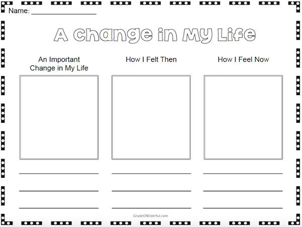 Grade 1 worksheet on Change