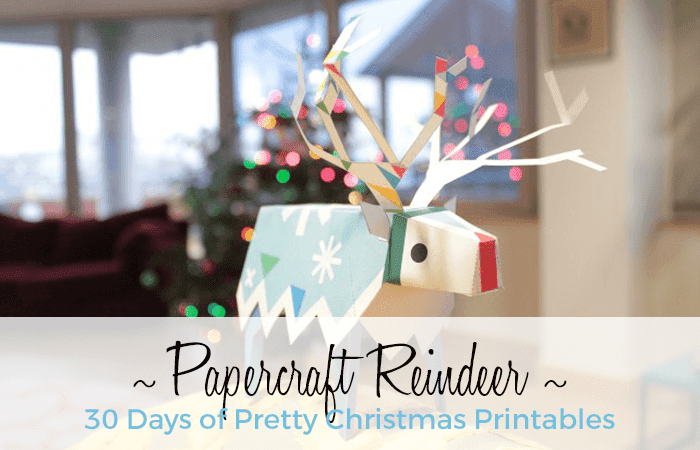 Papercraft Reindeer