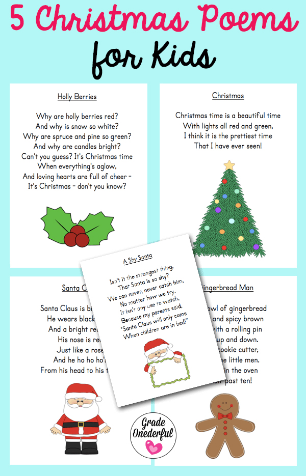 5 Free Christmas Poems for Kids