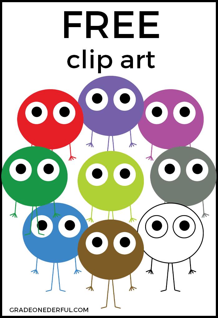 Free clip art. Dotty people.