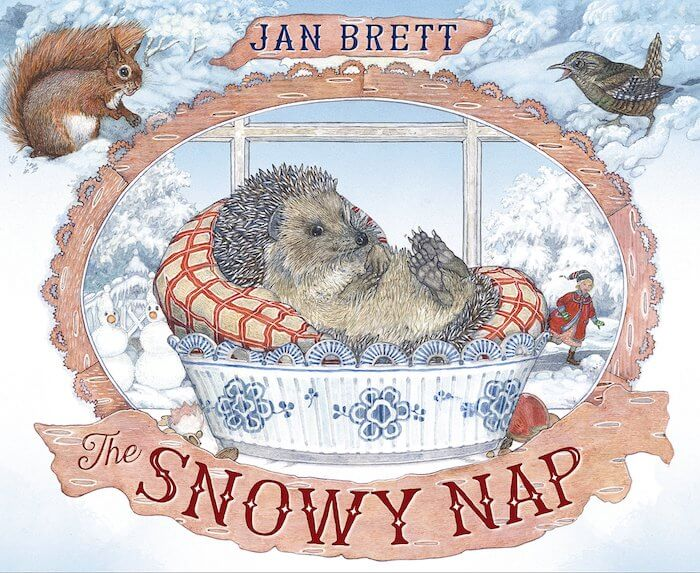 The Snowy Nap by Jan Brett. Book review with book-related activities. Don\'t miss this delightful wintery book about a sleepy hedgehog!