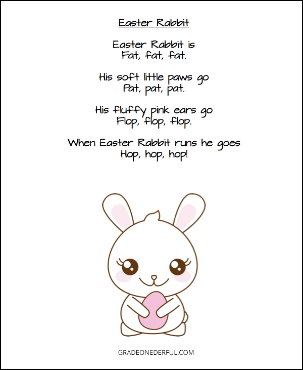 3 free and fabulous Easter poems for children. You\'ll get a 9-page pdf to immediately download and print.