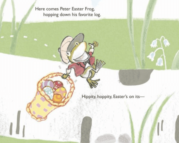 Book review of Peter Easter Frog, a funny and sweet story perfect for 2 to 6 year olds. Seven easy ideas for extending the story are included.