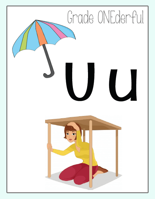 5 Free Short Vowel Posters for your classroom. Perfect for K-2