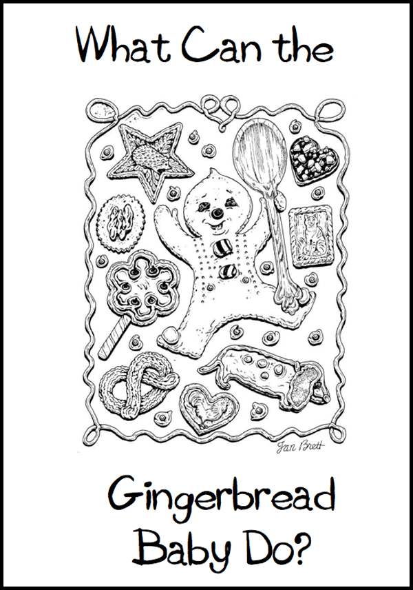 Gingerbread Freebie. Make a class book called What Can the Gingerbread Baby Do? Perfect for K-1. Instant download template