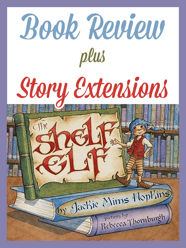 The Shelf Elf Book Review and Activities: This sweet book is all about learning library manners. Skoob, the elf, has finished his work with the shoemaker and his wife and now has a new job in the library. His dream is to win the Golden Shelf Elf Award.