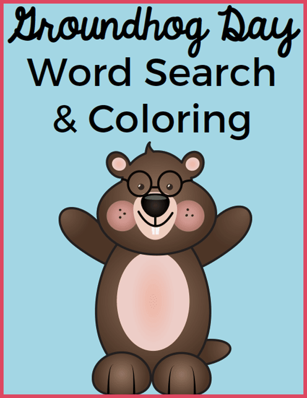 Free Printable: Groundhog Day Coloring and Word Search