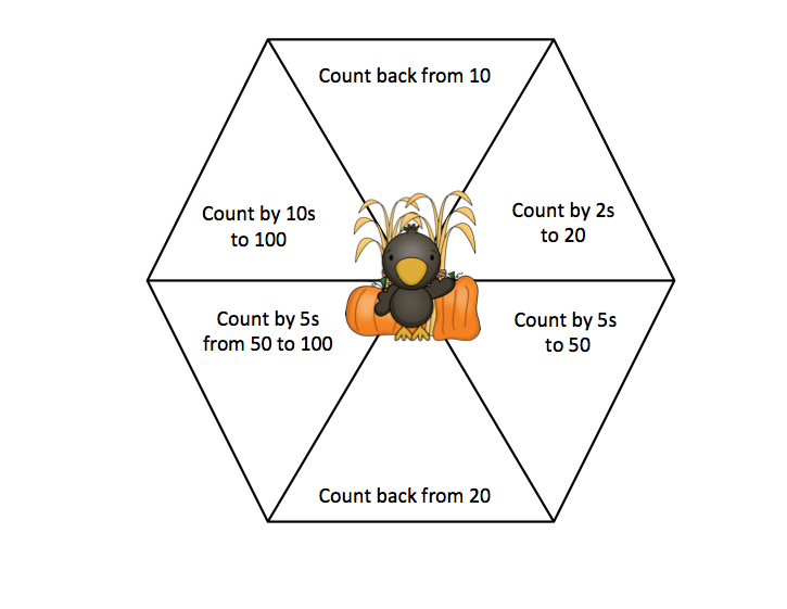 Grade ONEderful: Halloween Counting Game for Grade 1; Picture of the spinner