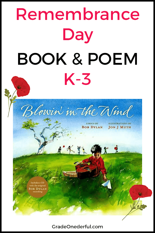 Perfect Remembrance Day Book and Poem for First Grade