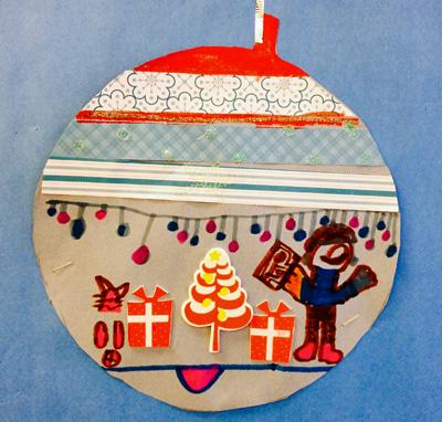 Christmas ornament art