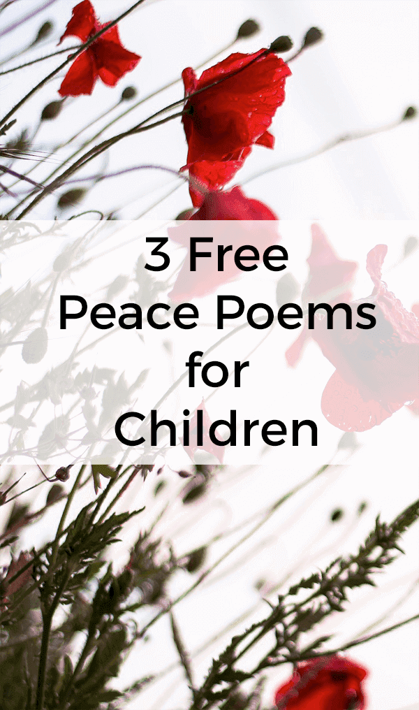 Kids Poems for Peace: Free Printables
