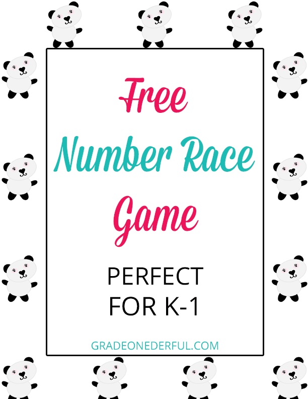 Math Game Freebie for number recognition, number printing and subitizing (GradeONEderful.com)