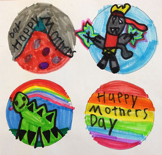 Beautiful, fun, easy Mother's Day craft for kids to make. Shrinky Dink pendants.