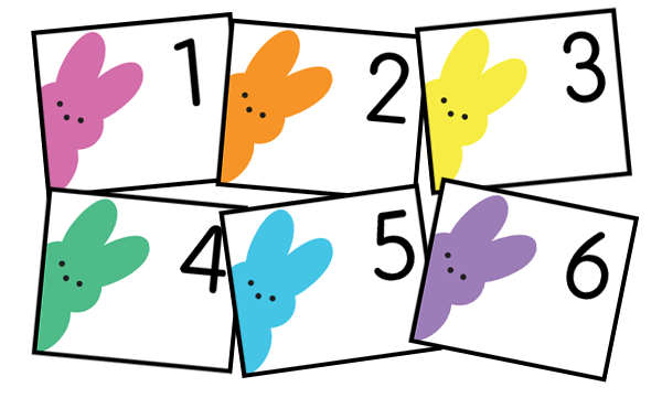 Free peeps calendar cards. Perfect for April. Download instantly. No membership or subscription needed. By Grade Onederful